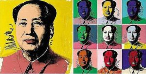 Mao, 1972 Screenprint 36 x 36 inches by Andy Warhol