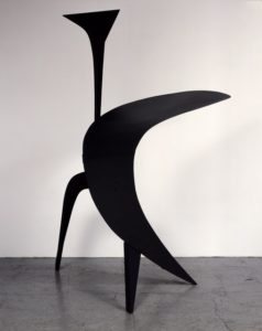 The Big Ear, 1943 Sheet metal, bolts, and paint 133 × 72 × 59 inches by Alexander Calder