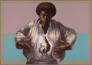 Sound of Silence, 1978 Lithograph 25 1/8 x 35 5/16 inches by Charles White (1918 - 1979)