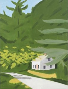 Black Brook 18, 2014 oil on linen 96 x 120 inches by Alex Katz