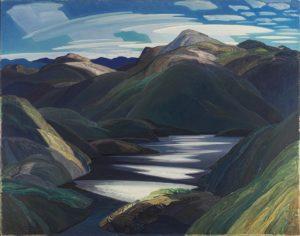 Light and Shadow, 1937 oil on hardboard 96.2 x 121.6 cm by Franklin Carmichael