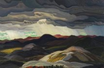 Snow Clouds, 1938 oil on masonite 96 x 121.4 cm by Franklin Carmichael (1890 - 1945)