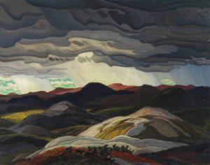 Snow Clouds, 1938 oil on masonite 96 x 121.4 cm by Franklin Carmichael (1890 - 1945)