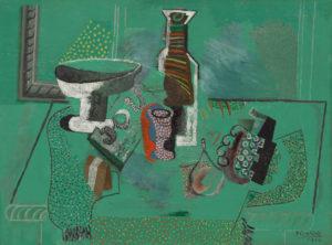 Green Still Life Avignon, summer 1914 Oil on canvas 59.7 x 79.4 cm by Pablo Picasso