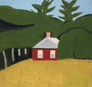 Red House 3, 2013 oil on linen 203.2 x 213.4 cm by Alex Katz (b.1927)