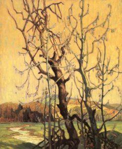 Spring, 1920 oil on canvas by Franklin Carmichael