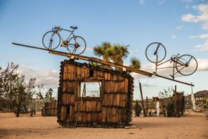 No Contest (bicycles), 1991 by Noah Purifoy (1917-2004)
