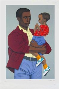 New Generaiton, 1992 Lithograph 29.25 x 20.25 inches by Elizabeth Catlett