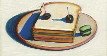 Sandwich, 1963  oil on canvas 8 x 12 inches by Wayne Thiebaud (b. 1920)
