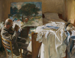 An Artist in His Studio, 1904 oil on canvas 54.6 x 71.7 cm by John Singer Sargent