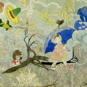 Untitled, n.d. watercolour by Henry Darver