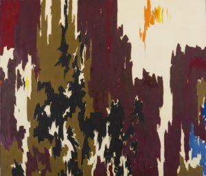 1957 - PH-957 oil on canvas 92 1/2 x 108 inches by Clyfford Still (1904-1980)
