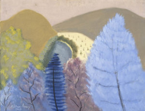 Blue Trees, 1945 Oil on canvas 28 x 36 inches By Milton Avery