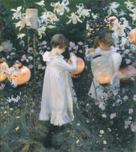 Carnation, Lily, Lily, Rose, 1885-6 Oil on canvas 174 × 153.7 cm by John Singer Sargent (1856–1925)