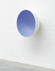 Monochrome (Lilac), 2015 Fibreglass and paint 35 2/5 × 35 2/5 × 18 9/10 inches by Anish Kapoor