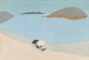 Sea Gazers, 1956 Oil on cnavas 30 1/16 × 44 1/16 inches by Milton Avery