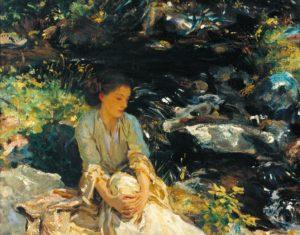 The Black Brook c.1908 Oil on canvas 55.2 × 69.8 cm by John Singer Sargent