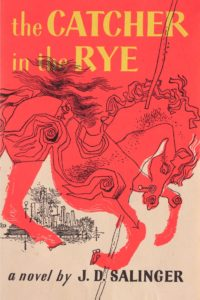 Cover illustration for The Catcher in the Rye, First Edition, 1952 by J.D. Salinger's neighbour, E. Michael Mitchell