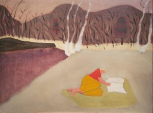The Reader in the Quarry, 1947 Oil on canvas by Milton Avery