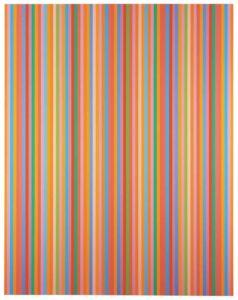 Aria, 2012 oil on canvas by Bridget Riley (b. 1931)