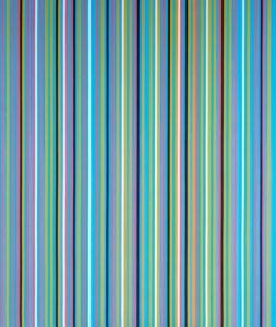 Achæan, 1981 oil on canvas by Bridget Riley