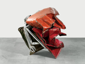 Hillbilly Galoot, 1960 Painted and chromium-plated steel 58 x 65 x 58 inches by John Chamberlain