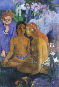 Contes Barbares (Primitive Tales), 1902 oil on canvas 51 4/5 × 35 3/5 inches by Paul Gauguin