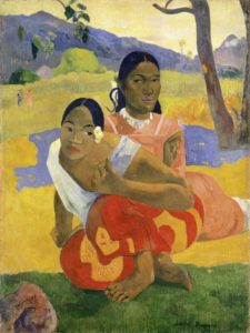 Nafea faaipoipo ((When Will You Marry?), 1892 Oil on Canvas 41 3/10 × 30 1/2 inches by Paul Gauguin
