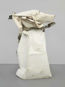 Velvet White, 1962 Painted and chromium-plated steel 79 1/2 × 52 3/4 × 58 1/4 inches by John Chamberlain