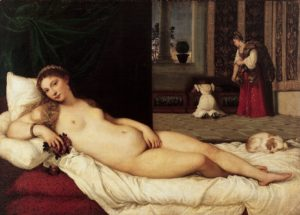 Venus of URbino, 1534 Oil on canvas 119 × 165 cm by Titian