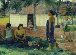 Why Are You Angry? (No Te Aha Oe Riri), 1896 Oil on canvas 37 1/2 × 51 2/5 inches by Paul Gauguin (1848-1903)