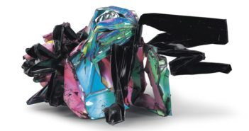 Schadenfreude, 1993 Painted and chromium-plated steel 26.25 x 52.5 x 32.75 inches by John Chamberlain (1927–2011)
