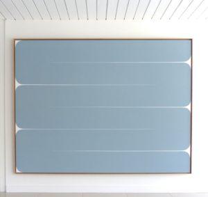 I'm Getting Closer, 2020 Acrylic on canvas 73.5 x 97.5 inches by Sara Genn
