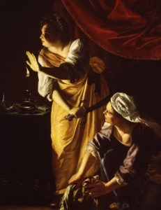 Judith and her Maidservant with Head of Holofernes, c. 1623–1625 Oil on canvas 184.0 cm x 141.6 cm by Artemisia Gentileschi