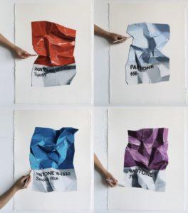 Pantone 1-4, 2018 Coloured pencil by CJ Hendry (b. 1988)