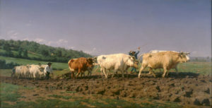 Ploughing in the Nevers, 1849 OIl on canvas 52 in × 100 inches by Rosa Bonheur