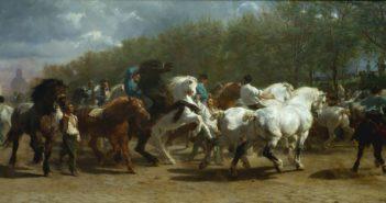 The Horse Fair, 1835–-55 Oil on canvas 96.25 × 199.5 inches by Rosa Bonheur (1822-1899)