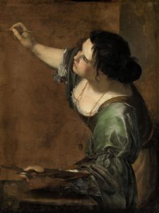 Self-Portrait as the Allegory of Painting, 1638–39 Oil on canvas 96.5 cm × 73.7 cm by Artemisia Gentileschi