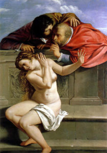 Susanna and the Elders (1610–11) Oil on canvas 170 cm × 119 cm by Artemisia Gentileschi