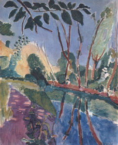 The Riverbank, 1907 Oil on canvas 146 x 11 cm by Henri Matisse