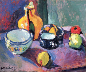 Vase with Fruit, 1901 Oil on canvas 51 x 61.5 cm by Henri Matisse