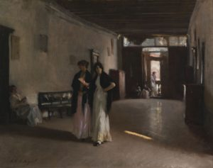 A venetian Interior, c. 1880-1882 Oil on canvas 49.8 x 60.7 cm by John Singer Sargent