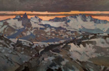 Black Tusk from Blackcomb Top, 1998 Acrylic on canvas 20 x 40 inches by Robert Genn (1936-2014)