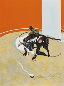 Study for bullfight, n° 3, 1990 Lithograph 51 x 38 cm by Francis Bacon