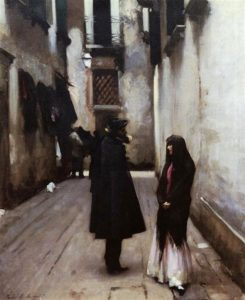 Venetian Street, c. 1880-1882 Oil on canvas by John Singer Sargent