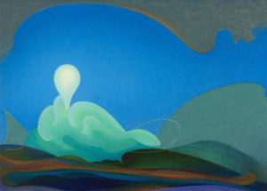 Sea Change, 1931 Oil on canvas 20 1/8 × 28 3/8 inches by Agnes Pelton (1881-1961)