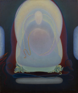 Mother of Silence, 1933  Oil on canvas 30 × 25 inches by Agnes Pelton