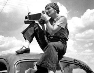Dorothea Lange in Texas, circa 1934.