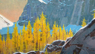 Larches from Opabin Prospect, Yoho Park, B.C., 2008 acrylic on canvas  30 x 34 inches by Robert Genn (1936 - 2014)