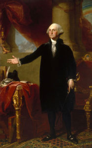 George Washington, 1796 Oil on canvas by Gilbert Stuart (1755 - 1828)